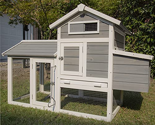 PETS IMPERIAL Grey Clarence Chicken Coop Hen Ark House...