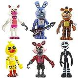 LLMZ 6pcs Five Nights at Freddy'S, Five Nights At Freddy Modelo de decoración Modelo de Personaje Animado Regalo (4.5 Pulgadas)