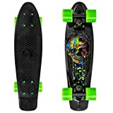 HBHHYRT Skateboard Completo 22 Inch Cruiser Skateboard Tabla De Skate Profesional para Principiante,Adultos, Adolescentes Y Niños