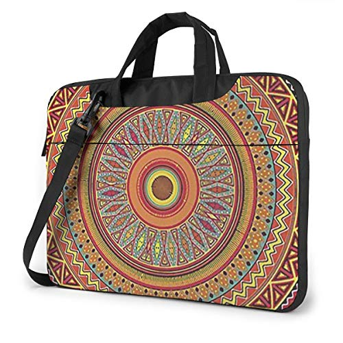 Ethinic Pattern Computer Bag Durable Laptop Briefcase Shoulder Messenger Bag for Computer Notebook 15.6 inch