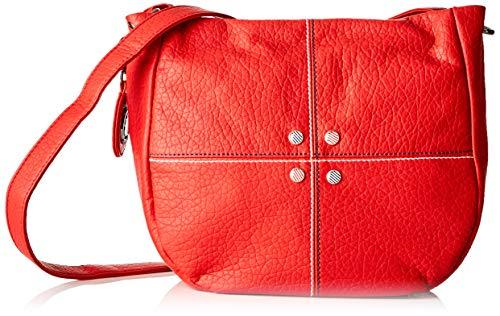 ctta caminatta S3001, Bolso bandolera para Mujer, Rojo (Rojo), 9x23x27 cm (W x H x L)