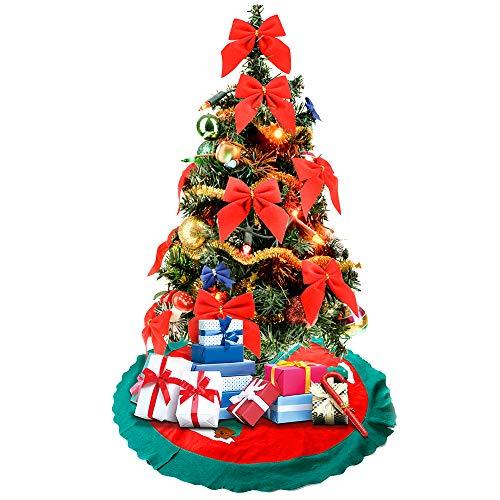 Mbuynow Tappetino per la Base dell'Albero di Natale Copre Il Piede dell'Albero Nascondendo Il Brutto Piedistallo di Ferro Decorazioni Natalizie - 90cm