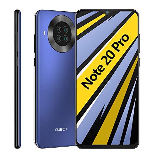 CUBOT Note 20 Pro Smartphone ohne Vertrag, 6GB RAM+128GB ROM 4G Handy, Günstig 6.5″HD+ Display, 4200mAh Akku, AI Kameras, Dual SIM, Android 10.0, NFC, Face ID, Deutsche Version, Blau