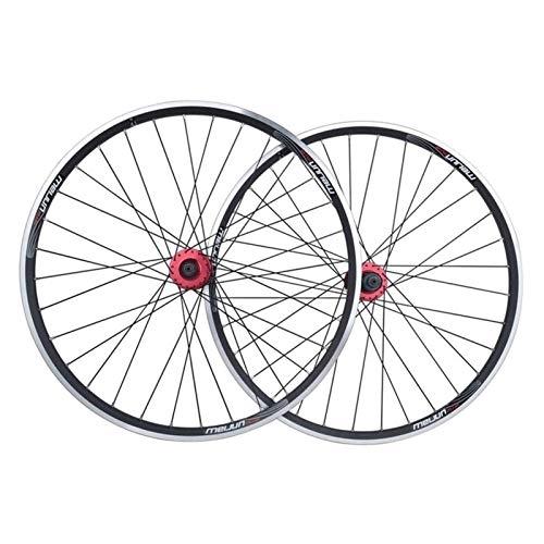 YOOXI 26 Ruedas de La Bici del Freno de La Pulgada V, Híbrido del Freno de Disco de La Aleación de Aluminio MTB/Ruedas de La Bici de Montaña (Color : Black)