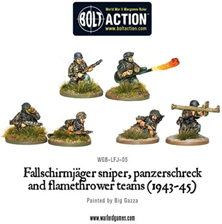 1943-45 Sniper & Flamethrower Team Miniatures