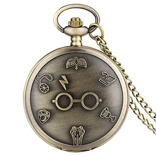 Reloj de Bolsillo Reloj de Bolsillo de Cuarzo clásico Reloj de Collar Vintage Reloj Colgante de Cadena de suéter Regalo