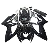 ZXMOTO Glossy Black Motorcycle Fairings Kit For 2006 2007 Suzuki GSXR 600 GSXR 750 Fairings Set Injection Mold ABS Plastic Bodywork Fairings