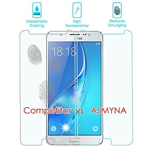 Asmyna for Samsung Galaxy J7 2017 SkyPro On7 Tempered Glass Screen Protector 2.5D 2-PK