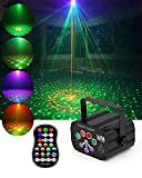 Stage Party Laser Lights, winoon Laser Projector Lights, Disco DJ Laser Lights with RGB & UV LED, Remote Control, Music Sync Lights Flash for Birthdays, Festival Parties, Outdoor Activities