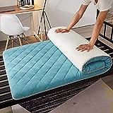 CheChe-nh Tapete plegable para colchón de futón, suave, de tatami, para dormir, rollo de cama japonés, grueso, para dormitorio de estudiante, hogar, 90 x 190 cm