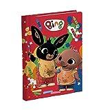 Agenda escolar Bing Conejo Art 16 meses sin fecha, color rojo, 18 x 13 cm + bolígrafo de color de regalo