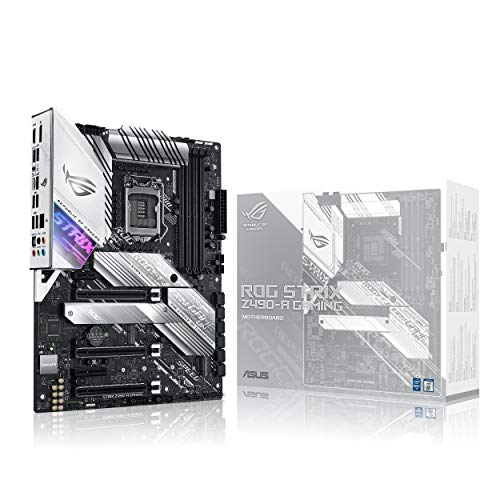 ASUS Gaming Mainboard ATX Intel 8a 9 Gen, LGA 1151 mit RGB-Beleuchtung Aura Sync, OC durch IA, DDR4 4266 MHz+, 2 M.2 mit Kühlung, SATA 6Gbps, HDMI und USB 3.1 Gen. 2. ROG Strix Z490-A Gaming Z490
