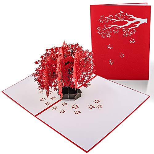 Carte 3D, Carte Pop Up, Carte Anniversaire Mariage, Carte de Voeux Avec Enveloppes, Carte Anniversaire Artisanale et Technologie Laser Exquise, Cadeaux Chics et Élégants pour Enfants, Amis, Amoureux