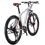 Eurobike Bikes X9 Aluminum Frame 29 Inches 3-Spoke Wheels Mountain Bike 21 Speed Dual Disc Brake Bicycle Silver