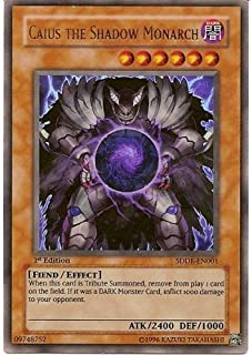 Yu-Gi-Oh! - Caius the Shadow Monarch (SDDE-EN001) - Structure Deck The Dark Emperor - 1st Edition - Ultra Rare