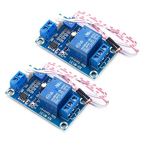 ALAMSCN DC 12V Light Control Switch Photoresistor Relay Module XH-M131 Detection Sensor For Car Light Brightness Automatic Control Module (PACK of 2)