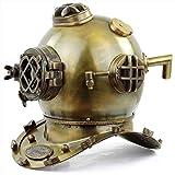 "18"" Antique Brass Oil Rubbed Finish Scuba Diving Helmet | US Navy Mark V Deep Marine Divers Gift Ideas | Sea Maritime Nautical Decor Ideas"