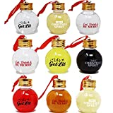 Joiedomi 9 Pcs Boozeball Christmas Ornaments Set 1.7 oz Fillable Ball Ornaments Christmas Decorations for Christmas Holiday Indoor and Outdoor Christmas Decorations