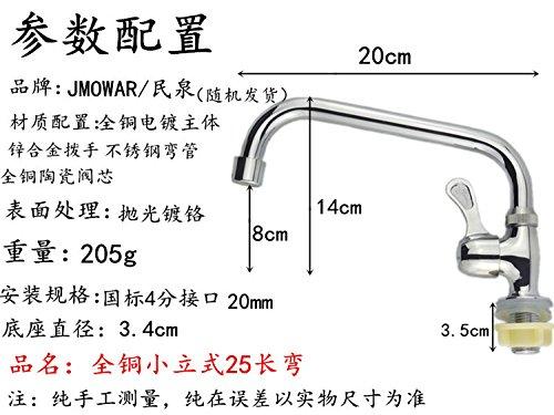 SunZILa valeur d'évier en acier inoxydable cuivre bassin rapide rotatif grand mur vertical,robinet de cuisine en cuivre Tous 16 25 vertical tube courbe longue queue