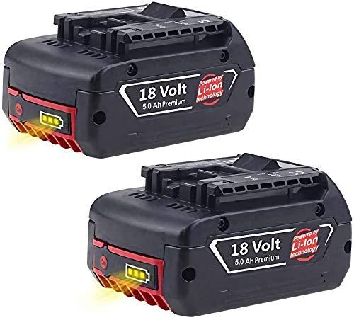 2X Reoben BAT609 18V 5000mAh Li-ion Reemplazo de batería de repuesto para Bosch BAT609 BAT609G BAT618 BAT618G BAT619 BAT619G