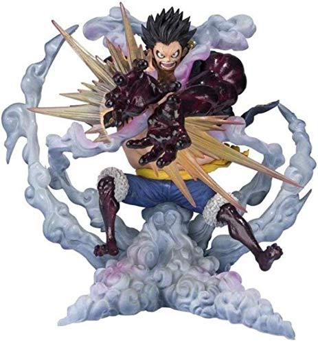 UanPlee-SC Personajes de Anime Monkey D Luffy-Gear 4 Leo Bazooka One Piece Anime Figura de Acción Modelo de Juguete Niños Regalo Personaje Recuerdo Artesanía Ornamento Estatua SLDJ929