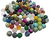 Lot de 100 pierres semi-précieuses - Pour bricolage - Obsid
