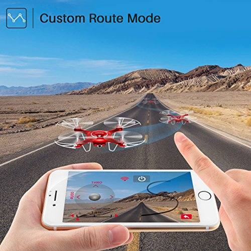 Drone-with-HD-Camera-SYMA-X5UW-720P-FPV-Real-time-Wifi-Gravity-Control-RC-RTF-Quadcopter-with-Flight-Plan-Route-App-Control-Altitude-Hold-Function