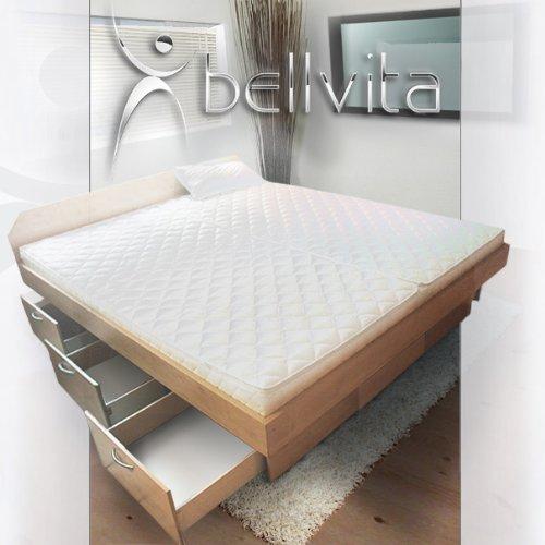 bellvita WASSERBETTEN mit Schubladensockel in Komforthöhe, Bettumrandung inkl. Aufbauservice, ahorn, 180 cm x 220 cm