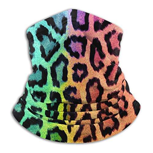 deyhfef Gaiter - Gorras de lana para esquí de nieve de color leopardo para exteriores