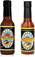Daves Gourmet Ghost Pepper Jolokia Hot Sauce, & Daves Gourmet Insanity Sauce Hot Sauce (Variety Pack)