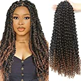 Passion Twist Hair 18 Inch 6 Packs/Lot Water Wave Crochet for Passion Twists Long Bohemian Hair Braiding Ombre Passion Twist Crochet Hair Braids Synthetic Hair Extensions (T1B/30#)