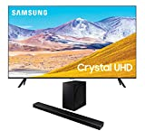 Samsung UN75TU8000 75' 8 Series Ultra High Definition Crystal 4K Smart TV with a Samsung HW-Q60T Wireless 5.1 Channel Soundbar and Bluetooth Subwoofer (2020)