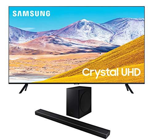 Samsung UN55TU8000 55' 8 Series Ultra High Definition Smart 4K Crystal TV with a Samsung HW-Q60T Wireless 5.1 Channel Soundbar and Bluetooth Subwoofer (2020)