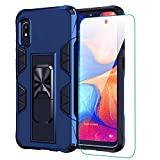 for Samsung Galaxy A10e Case A10E Phone Case with Screen Protector Dual Layer Soft Flexible TPU Hard Shell Military Grade Full-Body Rugged with Kickstand Car Mount Protective Cover Cases (Blue)