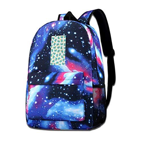 Rogerds Schultasche Freizeittasche, Perry The Platypus Fashion Rucksack Starry Sky Backpacks Travel Daypack Bags for Teens Girls Boys