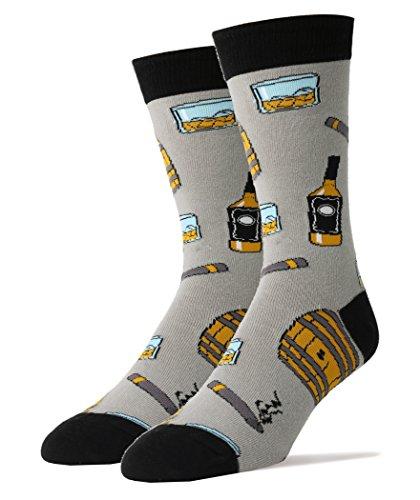 Oooh Yeah Men's Crew Funny Novelty Socks - Whiskey