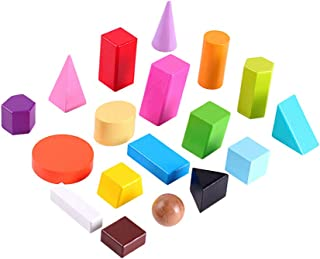Mini Geometric Shapes mathematics educational teaching aids,18 three dimensional geometric building blocks,3D Shapes Minia...