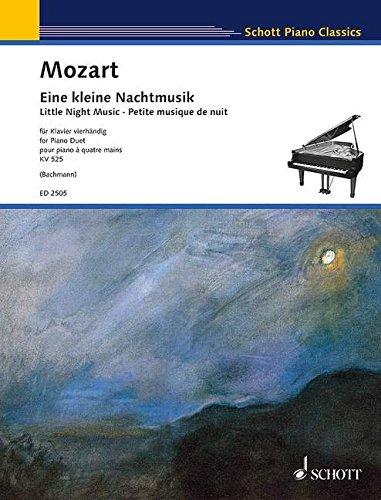 Eine kleine Nachtmusik: KV 525. Klavier 4-händig. (Schott Piano Classics)