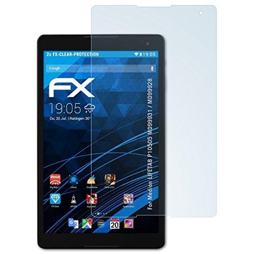 atFolix Schutzfolie kompatibel mit Medion LIFETAB P10505 MD99931 / MD99928 Folie, ultraklare FX Bildschirmschutzfolie (2X)