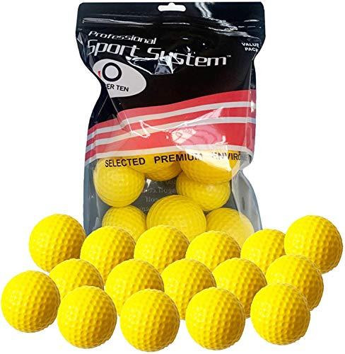 FINGER TEN Golf Übungsbälle Trainingsbälle 24 Stück Golfbälle Trainings Heimgebrauch Im Freien Garten Rot Orange Gelb Blau Für Damen Herren Kinder (Gelb, 24Stück)