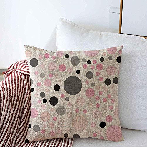 N/Q Funda de Almohada Decorativa Render Blur Pink Dots Abstract Halftone Wheel Borrosa Bubble Circle Club Color Cycle Spot Interior Lino Cuadrado Fundas de Almohada para sofá Banco de 45 x 45CM