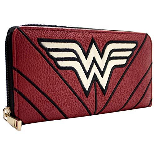 DC Wonder Woman Sterne & Streifen Krieger Anzug Rot Portemonnaie Geldbörse