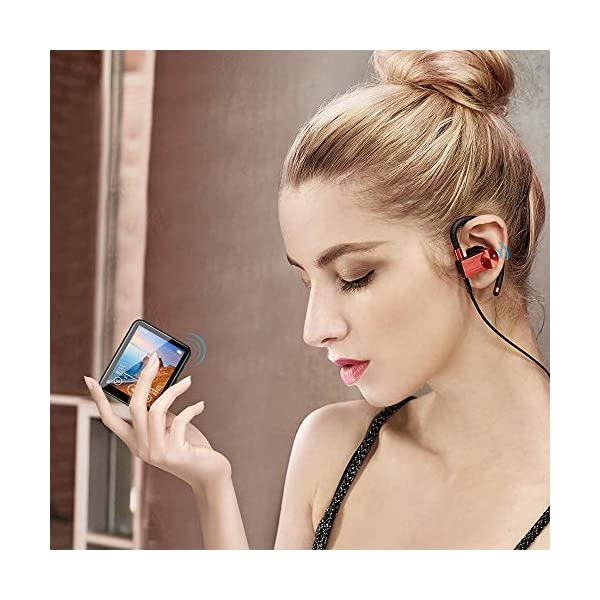 MP3 Player Bluetooth 5.0 Touch Screen Music Player 16GB Portable mp3 Player with Speakers high Fidelity Lossless Sound Quality mp3 FM Radio Recording e-Book 1.8 inch Screen MP3 Player Support (128GB) 6