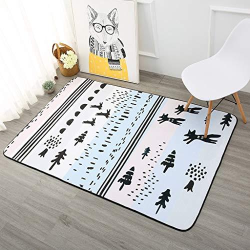 Rug Nniu vierkant tapijt, wasbaar, korte stapel, antislip, groot tapijt voor woonkamer, slaapkamer, salontafel, 8 mm