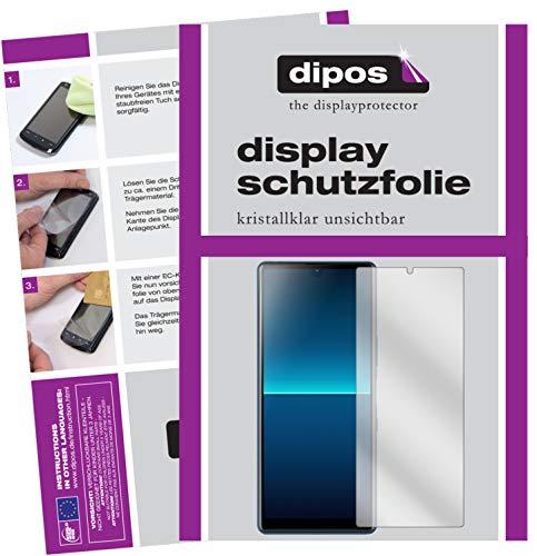 dipos I 5X Schutzfolie kompatibel mit Sony Xperia L4 Bildschirmschutz-Folie klar (Kleiner als das Glas, da Dieses gewölbt ist)