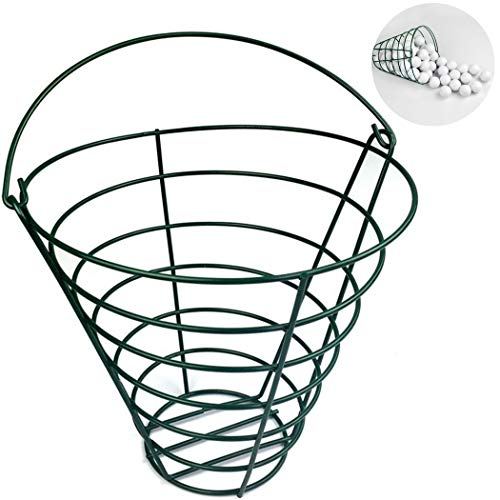 Fansport Golf Bucket Portable Metal Golf Container Golf Basket with Top Handle