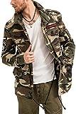 trueprodigy Casual Hombre Marca Chaqueta Militar Ropa Retro Vintage Rock Vestir Moda Camuflaje Deportivo Slim fit Designer Fashion Aviador Jacket Parka, Colores:Khaki, Tamaño:S