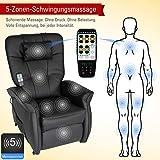 THRONER EXKLUSIV Massagesessel mit elektr. Aufstehhilfe 5-Zonen-Massage