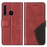 SUMIXON Hülle für Galaxy A9 2018, PU Leder Brieftasche Schutzhülle für Samsung Galaxy A9 2018, Kratzfestes Handyhülle mit Kartenfächern & Standfunktion, Rot
