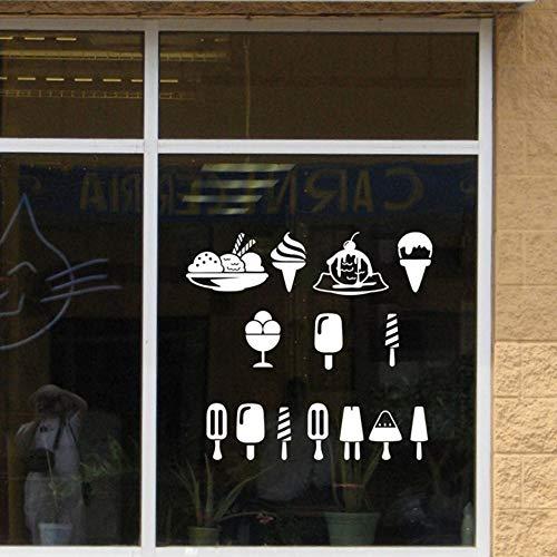 Olivialulu verscheidenheid van Fancy ijs ijs Stickers koud drinken ijs Dessert Shop venster glazen deur achtergrond Home Stickers